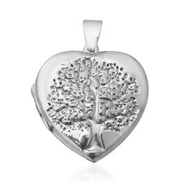 One Time Close Out Deal- Sterling Silver Tree of Life Engraved Heart Locket, Silver wt 8.99 Gms