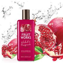 FruitWorks: Rhubarb & Pomegranate Bath & Shower Gel (With Aloe Vera & Vitamin E) - 500ml