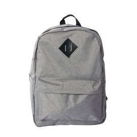 Grey Backpack with Zipper Closure (Size 30x11x40cm)