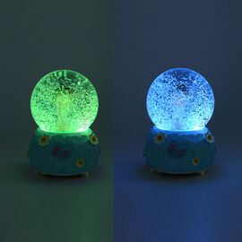 Home Decor - Butterfly Elf Snow Musical Crystal Globe with Colour Changing LED (Size 10x10x15.5 Cm)