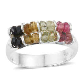 One Time Deal - Multi-Tourmaline (Rnd) Ring in Sterling Silver 3.50 Ct.