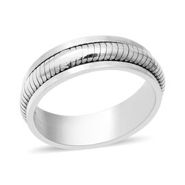 Sterling Silver Rotating Band Ring