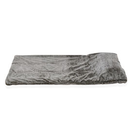 Luxury Faux Fur Quilted Sleeping Bag Fully Lined and With Detachable Pillow (Size 178x76 cm) Green