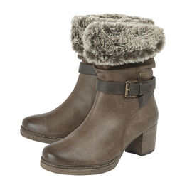 Lotus Charmaine Heeled Mid-Calf Ladies Boots - Brown