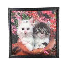 Realistic 5D Cats Painting (Size 43.5x43.5x4.5cm)