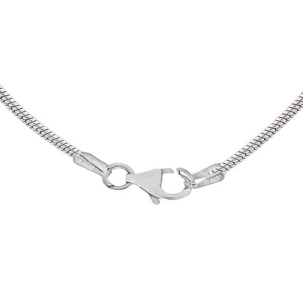 Sterling Silver Oval Snake Chain (Size 16), Silver wt 3.70 Gms