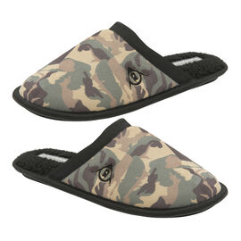 Dunlop Mens Camo Slipper Mules in Camouflage Pattern