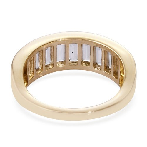New York Close Out- 14K Yellow Gold Extremely Rare Shape  Turkizite (Bgt) Band Ring 1.750 Ct.