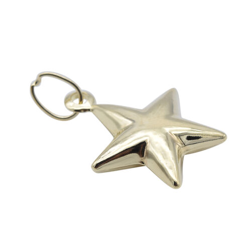 9K Yellow Gold Star Pendant
