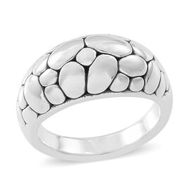 Thai Sterling Silver Band Ring, Silver wt. 4.53 Gms
