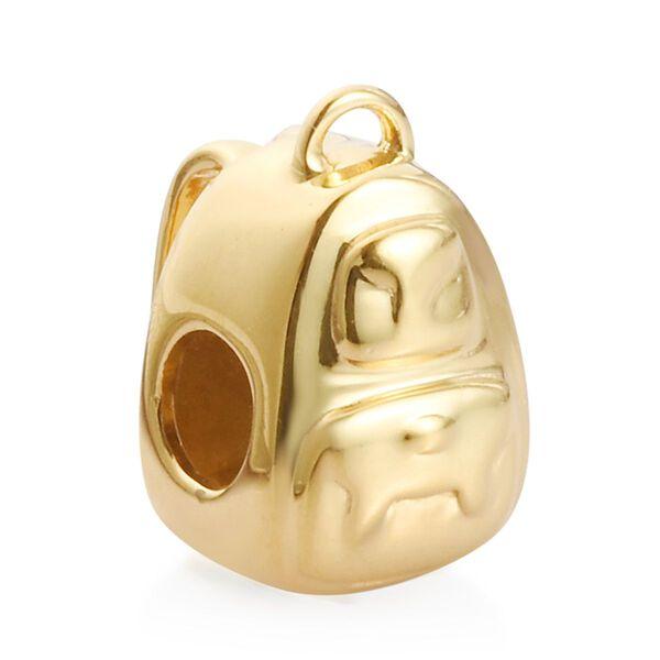 Charmes De Memoire - 14K Gold Overlay Sterling Silver School Bag Charm, Silver wt 3.00 Gms