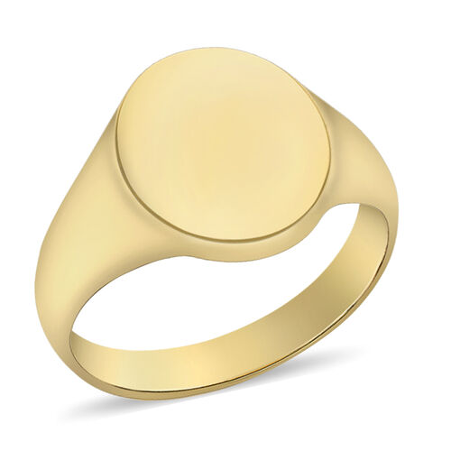 Personalised Engravable 9ct Oval Signet Ring