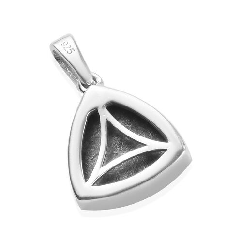 Tucson Special - Meteorite (Trl 12mm) Pendant in Platinum Overlay Sterling Silver 10.00 Ct.
