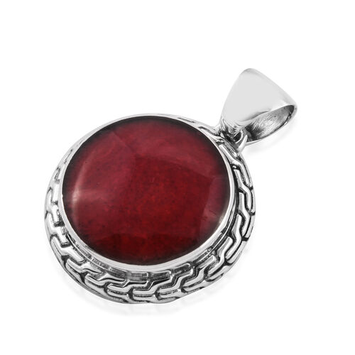 Royal Bali Collection Sponge Coral (Rnd) Pendant in Sterling Silver, Silver wt 6.72 Gms.
