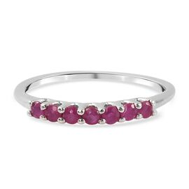 Burmese Ruby Ring in Platinum Overlay Sterling Silver 29.75 ct  29.750  Ct.