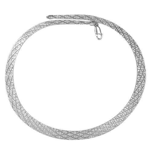 JCK Vegas Collection - Sterling Silver Cubetto Chain (Size 17.5), Silver wt. 25.81 Gms.