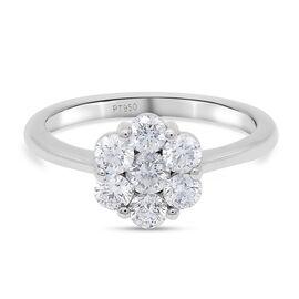 RHAPSODY 950 Platinum Diamond Ring 1.00 ct,  Platinum Wt. 3.6 Gms