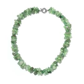 Green Aventurine, Simulated Emerald Beads Necklace (Size 18) 386.000  Ct.