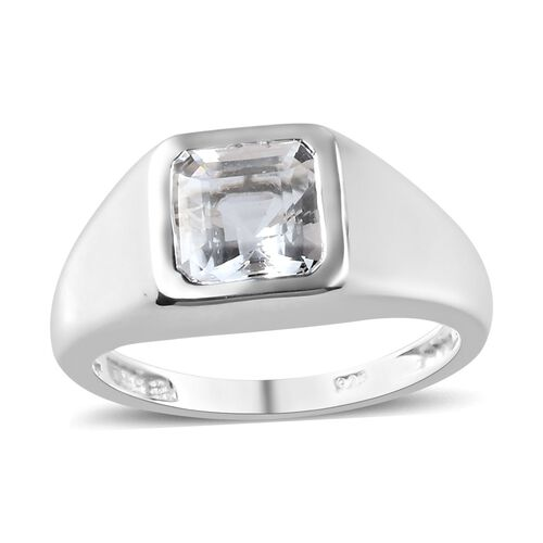 2 Carat Petalite Solitaire Ring in Sterling Silver