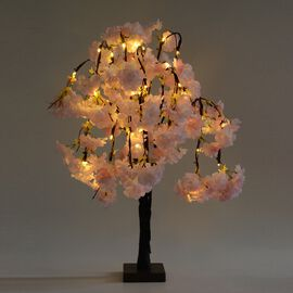 Home Decor - Cherry Blossom LED Light (Size 60x48 Cm) (3 x AA IP20 Battery not Included)  - Pink