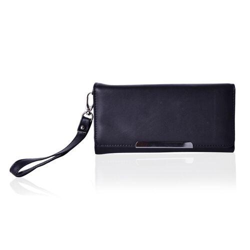 Roseberry Dazzling Black Clutch Bag / Travel Wallet (Size 19x10 Cm)