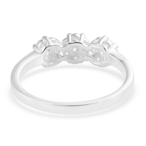 J Francis - Sterling Silver (Rnd) Ring Made with SWAROVSKI ZIRCONIA.