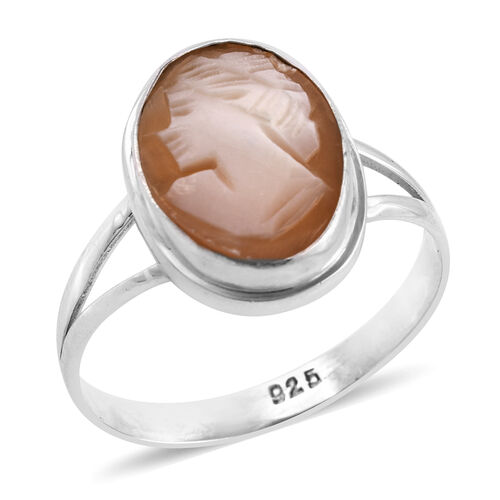 Royal Bali Collection Cameo (Ovl 14x10 mm) Ring in Sterling Silver 3.015 Ct.