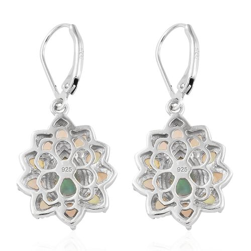 Ethiopian Welo Opal (Pear) Lever Back Earrings in Platinum Overlay Sterling Silver 2.750 Ct.