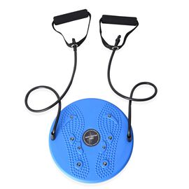 Twisting Waist Disc Rotating Board with Pull Rope (Size 25 Cm) Blue Colour
