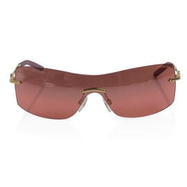 FABERGE Classic Sunglasses 23 Ct Gold Plated Frame - Raspberry Colour