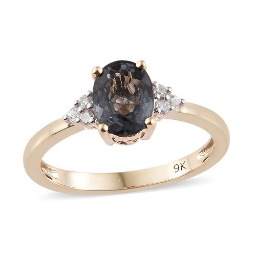 9K Yellow Gold Platinum Spinel (Ovl 1.50 Ct), Diamond Ring 1.600 Ct.