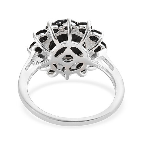 Boi Ploi Black Spinel (Rnd) Ring in Sterling Silver Ring  5.250 Ct