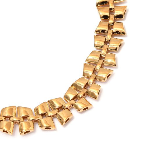 RACHEL GALLEY - Link Collection- 14K Gold Overlay Sterling Silver Necklace (Size 20) Silver Wt 45 Grams