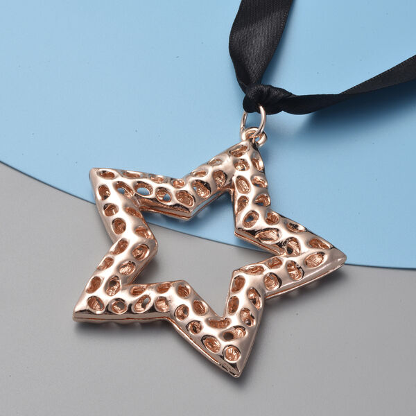 RACHEL GALLEY Star Baubles with Lattice Work in Rose Gold Tone