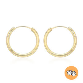 Children Hoop Earrings in 9K Yellow Gold