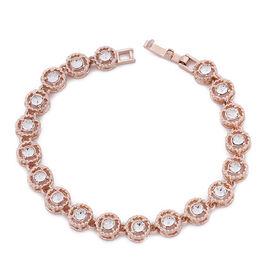 Swarovski Biggest Close Out- Eternity Swarovski Crystal Bracelet (Size 7.75) in Rose Gold Tone