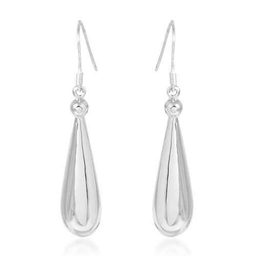 Designer Inspired - Sterling Silver Hook Earrings, Silver wt. 4.57 Gms.