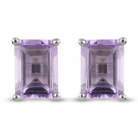 African Amethyst Earring in Platinum Overlay Sterling Silver 1.70 ct  1.700  Ct.