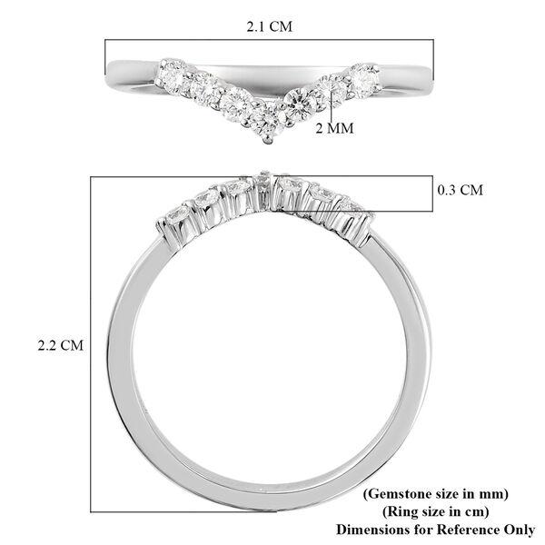 RHAPSODY 950 Platinum IGI Certified Diamond (VS/E-F) Wishbone Ring 0.25 Ct.