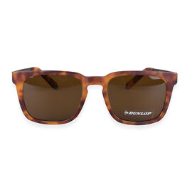 DUNLOP Unisex Tortoise Wayfarer Sunglasses -  Brown