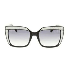 SWAROVSKI Womens Square Sunglasses With Grey Lenses And White Swarovski Crystal Embedded Design
