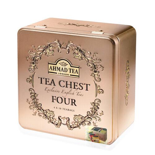 AHMAD TEA Tea Chest Four Caddy
