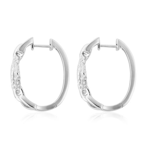 RACHEL GALLEY - Rhodium Overlay Sterling Silver Latticework Earrings (with Clasp)