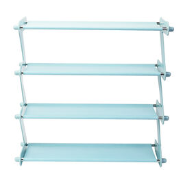 Durable and Portable Z-shaped Shoe Rack in Blue (Size 46x16x46 Cm)