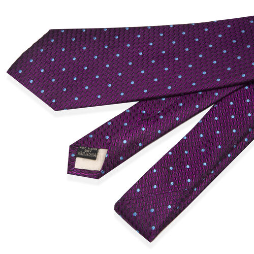 William Hunt - Silk Polka Dot Tie - Purple
