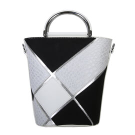 Bulaggi Collection - Carmel Bucket Bag (Size 17x24x17 Cm) - Black/White