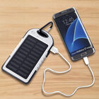 5000 mah Power Bank in Solar Panel and Mountaineering Buckle with USB Cable (Size:15x7.5Cm) - White