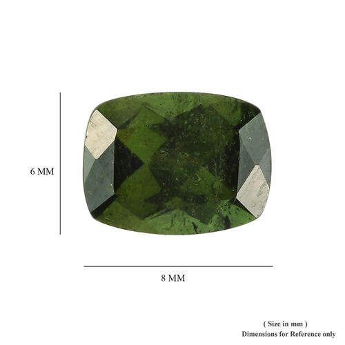 AAA Green Tourmaline Cushion 8x6 Faceted 1.63 Cts