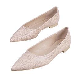 Inyati - VIOLET Croc Slip-On Flat Ballerinas Peach