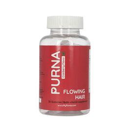 PURNA: Flowing Hair Vitamin Biotin 30 Gummies for Adults & Kids (Vegan, 100% RDA, Maximum Strength)